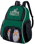 Michigan State Peace Frog Soccer Ball Backpack Bag Green