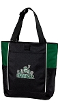 Michigan State Peace Frog Tote Bag Hunter Green