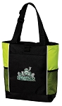Michigan State Peace Frog Tote Bag COOL LIME