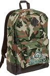 Michigan State Peace Frog Camo Backpack