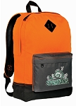 Michigan State Peace Frog Backpack Classic Style Cool Orange