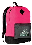 Michigan State Peace Frog Backpack Classic Style HOT PINK