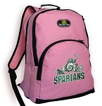 Michigan State Peace Frog Pink Backpack