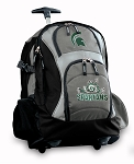 Michigan State Peace Frog Rolling Backpack Black Gray