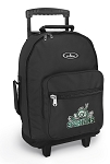 Michigan State Peace Frog Rolling Backpacks Black