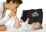 Michigan State Peace Frog Diaper Bags