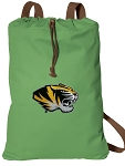 Mizzou Cotton Drawstring Bag Backpacks Cool Green
