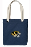 University of Missouri Tote Bag RICH COTTON CANVAS Navy