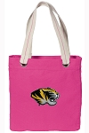 Mizzou Tote Bag RICH COTTON CANVAS Pink