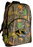 University of Missouri Backpack REAL CAMO DESIGN