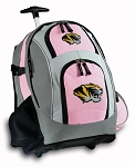 University of Missouri Rolling Backpack Pink