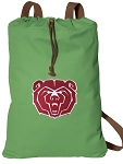 Missouri State Cotton Drawstring Bag Backpacks Cool Green