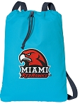 Miami University Redhawks Cotton Drawstring Bag Backpacks Blue