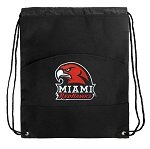 Miami University Redhawks Drawstring Cinch Backpack Bag