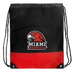 Miami University Redhawks Drawstring Cinch Bags Red