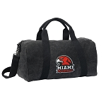 Miami University Redhawks Duffel RICH COTTON Washed Finish Black