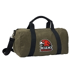 Miami University Duffel RICH COTTON Washed Finish Khaki