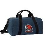 Miami Redhawks Duffel RICH COTTON Washed Finish Blue