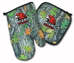 Miami University Redhawks Real Camo Oven Mitt and Logo Potholder Set