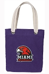 Miami University Tote Bag RICH COTTON CANVAS Purple