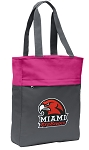 Miami University Redhawks Tote Bag Everyday Carryall Pink