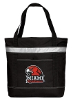 Miami University Redhawks Insulated Tote Bag Black