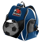 Miami Redhawks Soccer Ball Backpack
