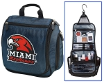 Miami Redhawks Cosmetic Bag or Shaving Kit Travel Bag Blue