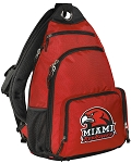 Miami University Backpack Cross Body Style Red