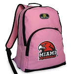 Miami University Redhawks Pink Backpack
