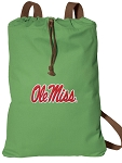 Ole Miss Cotton Drawstring Bag Backpacks Cool Green