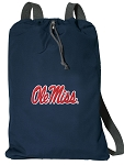 Ole Miss Cotton Drawstring Bag Backpacks Cool Navy