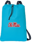 Ole Miss Cotton Drawstring Bag Backpacks Blue