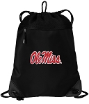 University of Mississippi Drawstring Backpack-MESH & MICROFIBER
