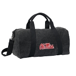 University of Mississippi Duffel RICH COTTON Washed Finish Black