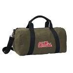 University of Mississippi Duffel RICH COTTON Washed Finish Khaki