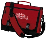 University of Mississippi Messenger Bag Red