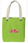Ole Miss Tote Bag RICH COTTON CANVAS Green