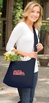 Ole Miss Tote Bag Sling Style Navy