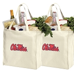 Ole Miss Shopping Bags University of Mississippi Grocery Bags 2 PC SET