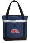 Ole Miss Insulated Tote Bag Navy