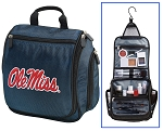 Ole Miss Cosmetic Bag or Shaving Kit Travel Bag Blue