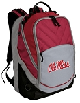 Ole Miss Deluxe Laptop Backpack Red