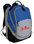 Ole Miss Deluxe Laptop Backpack Blue