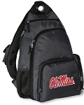 University of Mississippi Backpack Cross Body Style Gray