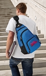 Ole Miss Backpack Cross Body Style Blue