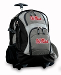 Ole Miss Rolling Backpack Black Gray