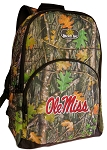 Ole Miss Backpack REAL CAMO DESIGN