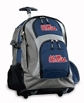 Ole Miss Rolling Backpack Navy