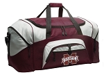 MSU Bulldogs Duffle Bag Maroon